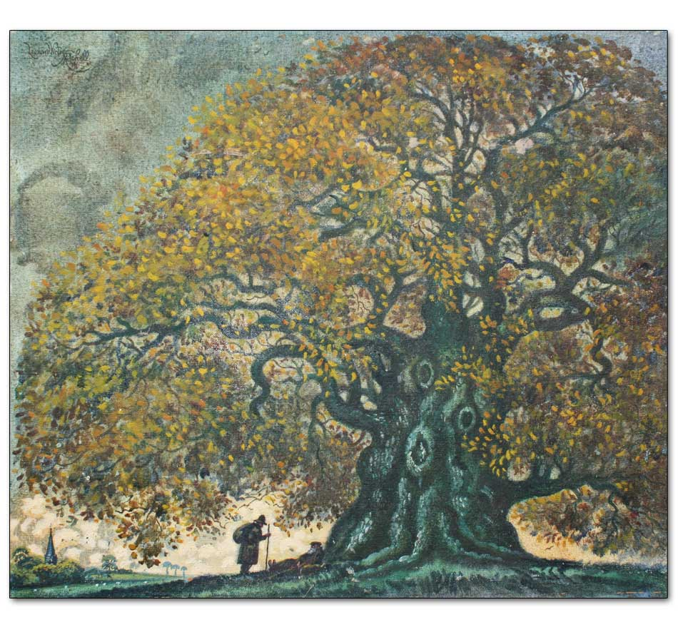 Autumn Oak with Wanderers