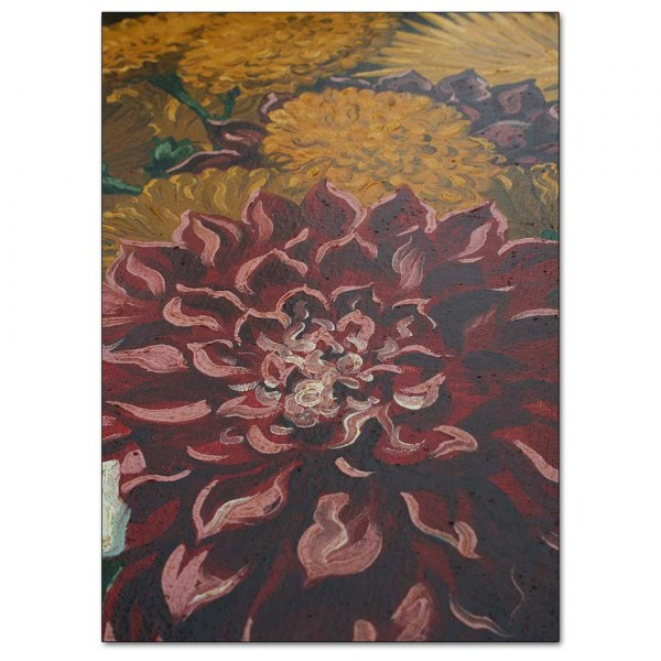 Detail - Red and Yellow Dahlias