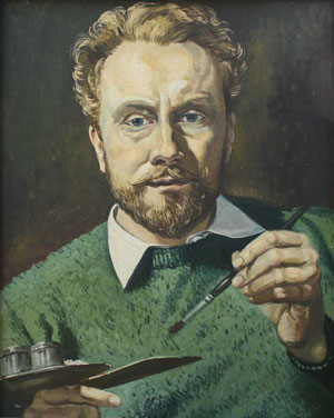 Self Portrait in Green Jersey, 1957